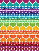 Valentine's day card hearts — Stock Vector
