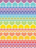 Corazones tarjeta de San Valentín — Vector de stock