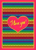 Valentine's day card hearts — Vecteur