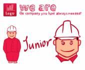 Worker or builder, technician character — Vetor de Stock