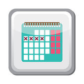 Calendar rhythm method icon — Stockvektor
