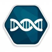 Blue DNA helix icon — Stock Vector