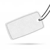 White leather price tag. Raster illustration. — Stock Photo