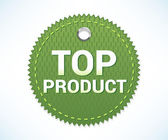 Top product offer label — Stock Vector
