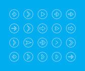 Thin line icon set - arrow — Stock Vector