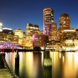 Boston Skyline with Financial District and Boston Harbor — Stock Photo #53089879