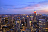 New York City Midtown with Empire State Building at Dusk — Foto Stock