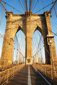 Brooklyn Bridge at sunrise, New York City — Stock Photo