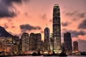 Gün batımında Hong kong manzarası — Stok fotoğraf