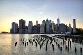 New York City Manhattan Downtown at dusk — Stock Photo