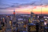 New York City Midtown with Empire State Building at Dusk — Stok fotoğraf