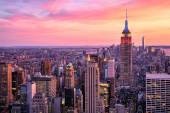 New York City Midtown with Empire State Building at Amazing Sunset — Foto Stock