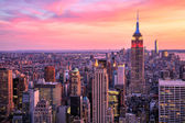 New York City Midtown with Empire State Building at Amazing Sunset — Stock Photo