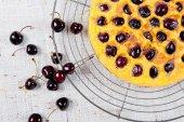 Black cherry pie — Stock Photo