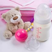 Baby's belongings — Stock Photo
