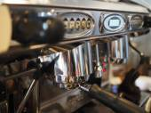 A professional espresso coffee maker — Stock Photo