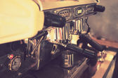 Coffee machine in vintage color toned — Stock fotografie