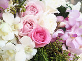 Pink rose in wedding day — Стоковое фото