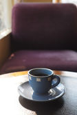 Vintage color tone of  cup of coffee  on the table coffee shop — Stock Photo