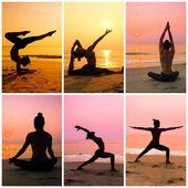 Kobieta Praktykuje jogę — Zdjęcie stockowe