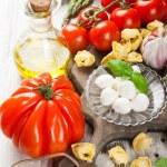 Italian food background — Stock Photo #74615183
