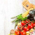Italian food background — Stock Photo #76130085