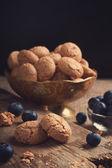 Italian almond cookie amaretti — Stock Photo