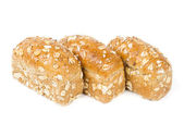 Three buns with oats — Stock Photo