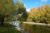 Yauza river in fall — Foto de Stock