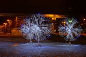 LED light decorations in Moscow — ストック写真