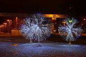 LED light decorations in Moscow — Zdjęcie stockowe