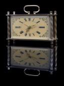 Clock on black — Stock Photo
