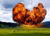 Supervolcano . — Stock Photo