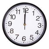 Clock on white — Stockfoto