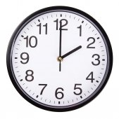 Clock on white — Stock Photo