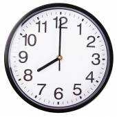 Horloge sur blanc — Photo