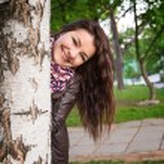 Girl birch — Stock Photo #56532039