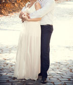 Man woman wedding walk — Stock Photo