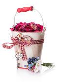 Blumen-Geschenk-Kasten-Bogen-Multifunktionsleiste — Stockfoto