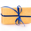 Gift packing box blue yellow — Stock Photo #63001411