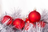 Tinsel cristmas ball — Stock Photo