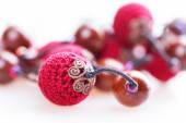 Red beads necklace — Stock Photo