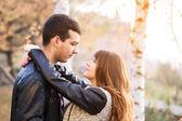 Man woman couple cuddling — Stock Photo