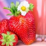 Fresh strawberries in closeup — Stock Photo #65668539