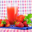 Strawberries with  napkin on background — Stock Photo #65671141