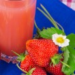 Strawberries with  napkin on background — Stock Photo #65671205