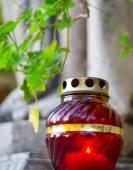 Ikony lampa svíčka v detailním — Stock fotografie