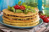 Zucchini savory layered cake — Stok fotoğraf
