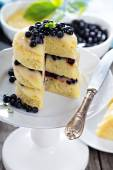 Lemon blueberry layer cake — Stock Photo
