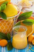 Lemon curd in a jar — Stock Photo